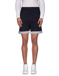 Suit Trousers Bermuda Shorts Men Dark Blue