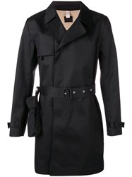 Matthew Miller Midi Trench Coat Black