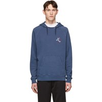 Paul Smith Ps By Blue Cycling Monkey Hoodie