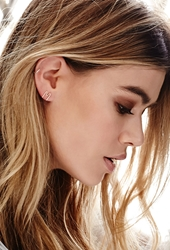 Forever 21 By Boe M Letter Earring Gold