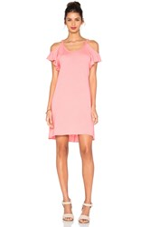 Nation Ltd. Cassandra Cold Shoulder Dress Coral