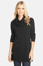 Caslonr Women's Caslon Side Slit Cowl Neck Tunic Black