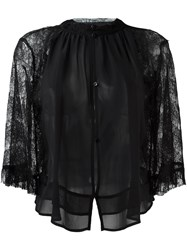 Amen Lace Blouse Black