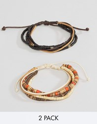 Classics 77 Wood Beaded And Cord Bracelet Pack Multi