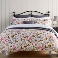 Christy Classic Rose Duvet Set Magenta King
