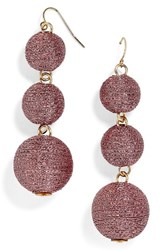 Baublebar Women's Shimmer Crispin Drop Earrings Rose Gold