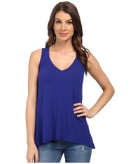 Splendid Drapey Lux Tank Top Cerulean Women's Sleeveless Blue