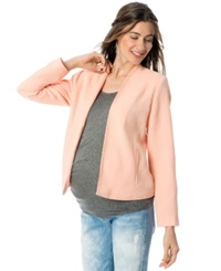 A Pea In The Pod Ponte Knit Maternity Jacket Melon