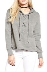 Lna Women's Lace Up Hoodie