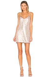 Saylor Shona Dress Metallic Copper