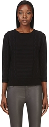 Marc By Marc Jacobs Black Textured Knit Lucinda Sweater