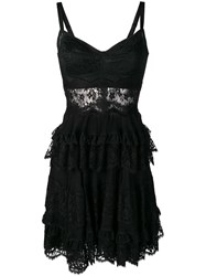 Dolce And Gabbana Lace Styled Dress Black