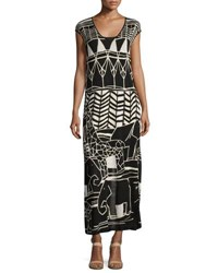 Nic Zoe Wild Things Graphic Print Maxi Dress Petite Multi