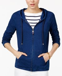 Tommy Hilfiger Hoodie Only At Macy's Blue Combo