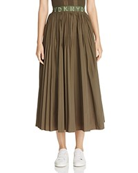 Dkny Pure Pleated Skirt Military
