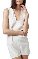 Women's Topshop Square Plunge Sleeveless Romper