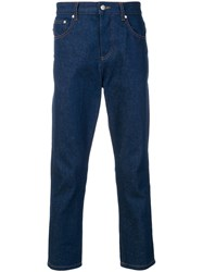 Ami Alexandre Mattiussi 5 Pockets Cropped Jeans Blue