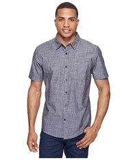 Hurley One Only S S Woven Shirt Black 3 Men's Short Sleeve Button Up Multi