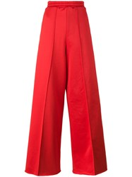 Golden Goose Deluxe Brand Wide Leg Track Pants Women Cotton Polyamide Viscose M Red