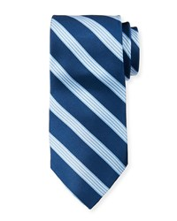 Neiman Marcus Boxed Striped Silk Tie Blue Pattern