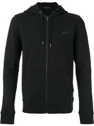 Michael Kors Zip Up Hoodie Men Cotton Spandex Elastane S Black