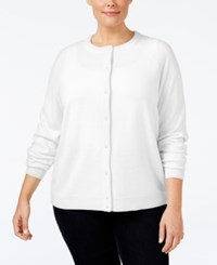 Karen Scott Plus Size Cardigan Only At Macy's Luxsoft White