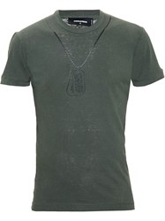 Dsquared2 Dog Tag T Shirt Green