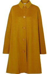 Mansur Gavriel Wool And Cashmere Blend Coat Yellow