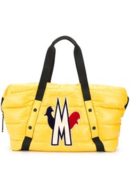 Moncler Power Chicken Logo Padded Tote Yellow