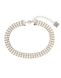 Anne Klein Triple Nested Faux Pearl Choker Necklace