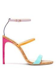 Sophia Webster Rosalind Rainbow Cork Sole Sandals Multi