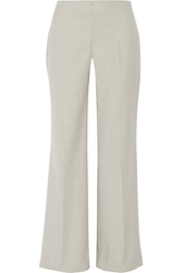 Oscar De La Renta Stretch Wool Wide Leg Pants