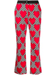 Love Moschino Heart Print Cropped Trousers 60