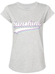 Zadig And Voltaire 'Sunshine' Print T Shirt Grey