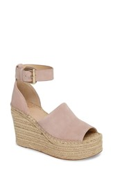 Marc Fisher Ltd Adalyn Espadrille Wedge Sandal Blush Suede