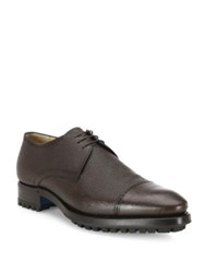 Sutor Mantellassi Mm3 Pebbled Leather Captoe Derby Shoes Black