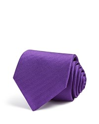 Eton Of Sweden Herringbone Classic Tie Purple