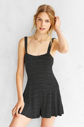 Cooperative Amalfi Knit Romper Black And White