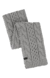 The North Face Women's 'Minna' Cable Knit Scarf Metallic Metallic Silver