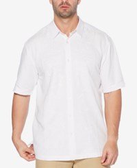 Cubavera Big And Tall Embroidered Short Sleeve Shirt Bright White