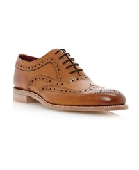 Loake Fearnley Wingtip Brogue Oxford Shoes Tan