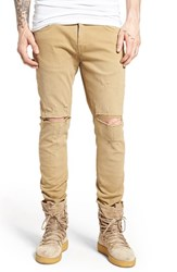 Represent Men's Destroyer Skinny Fit Jeans Tan