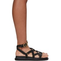 Marni Black Strappy Flat Sandals