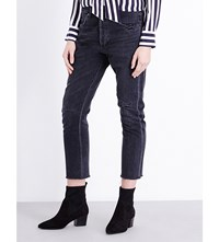 Citizens Of Humanity Corey Straight High Rise Jeans Black Hawk