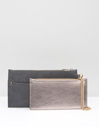 Oasis Purse With Detachable Pocket Grey