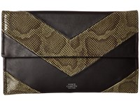 Vince Camuto Fitzi Clutch Black Kale Clutch Handbags Brown