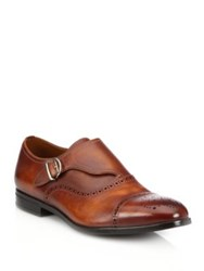 Bally Lanor Perforated Monk Strap Dress Shoes