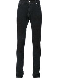Rta Embroidered Skinny Jeans Black