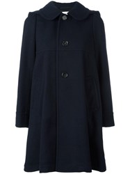 Comme Des Garcons Girl Single Breasted Coat Blue