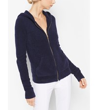 Cashmere And Silk Terry Hoodie Maritime